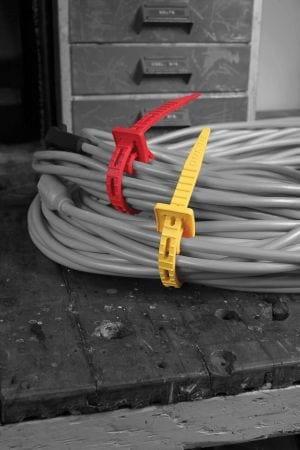 zip ties around extension cords